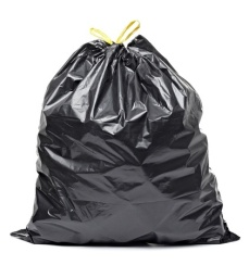 9590924 - close up of a garbage bag on white background with clipping path